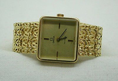 1970's Lovely Solid Heavy 18ct Gold Ladies Omega De Ville Bracelet Watch Small • 3,295£