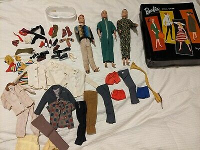 $ CDN176.77 • Buy Vintage 1960 Barbie Ken Dolls With Lots Of Clothes Clothing Accessories & Case