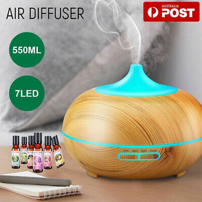 AU23.36 • Buy Aroma Aromatherapy Diffuser LED Essential Oil Ultrasonic Air Humidifier Purifier