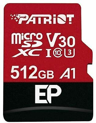 $98.39 • Buy Patriot Micro SD 512GB EP Series A1 V30 90MB/s Read 80MB/s Write Memory Card Ct