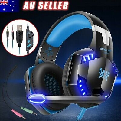 AU45.95 • Buy 3.5mm MIC LED Gaming Headset Headphones For Laptop PC PS4 Xbox One 360 AU