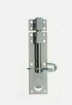 1 X Brenton Pad Bolt | BZP Heavy Duty Padbolts 8  Sliding Lock Latch • 7.99£