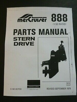 $17.99 • Buy Various MerCruiser Stern Drive PARTS Catalog Manual List Lists - See Selection