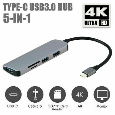 AU17.99 • Buy 5IN1 Type-C TO USB Hub Adapter Laptop Convenient  4K HDMI NEW Fashion