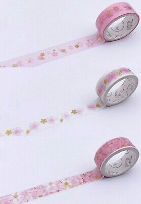 AU4.20 • Buy Japan Washi Tape  - Sakura Blossom 4 Rolls Set 15mmx3mx4 Rolls  MT427