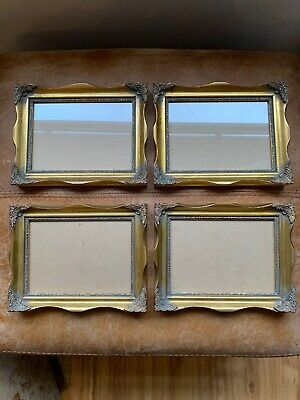 Beautiful Set Of 4 Gold Gilt Photo Picture Wall Frame Rococo Baroque Style 5 X 7 • 53.09£