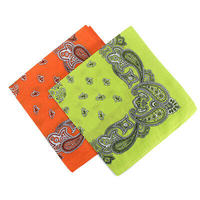 AU26.88 • Buy BANDANA Paisley & Plain 100% COTTON Head Wrap Head Wrap Summer Scarf Snood AU