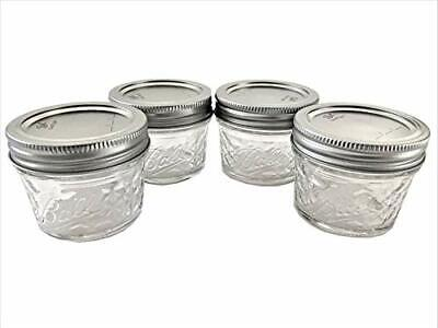 $16.08 • Buy Mason Ball Jelly Jars-4 Oz. Each - Quilted Crystal Style-Set Of 4