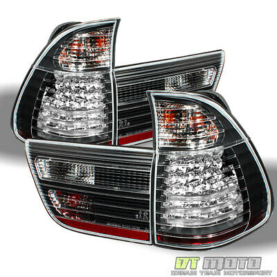$183.99 • Buy Black 2000-2006 BMW X5 E53 Lumileds LED Tail Lights Signal Lamps Pair Left+Right