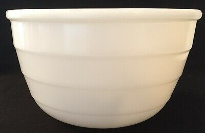 $18.99 • Buy Vintage GE Milk Glass Ribbed Mixing Bowl For Stand Mixer