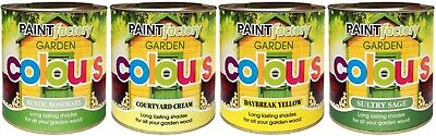 New Paint Factory Sheds Fences & Other Garden Wood Four Selected Colours 750ml  • 9.99£