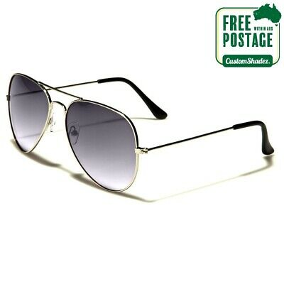 AU12.95 • Buy Air Force Series Sunglasses -Black Gradient Lens - Men's / Women's- Pilot Frame