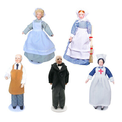 $ CDN46.65 • Buy 5 Pieces Antique 1:12 Dollhouse Mini Porcelain Doll People Beautiful Decor