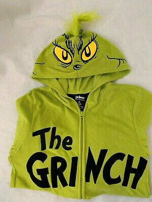 $35.21 • Buy Grinch MM 34  Bust X 54 Long Adult Costume Zip-up One Piece Hooded Suit