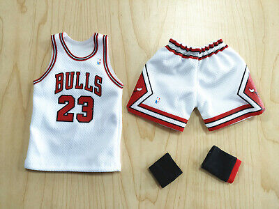 $27.99 • Buy 1/6 Michael Jordan White Chicago Bulls Jersey 23 For 12  Enterbay Figure Body