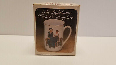 """$ CDN5.35 • Buy  Norman Rockwell Museum Mug """"The Lighthouse Keeper's Daughter""""  1982  With Box"""