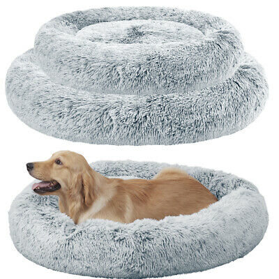 S-XXL Waterproof Soft Round Donut Pet Cat Dog Bed Deep Calming Bed Cushion 20-46 • 23.35£