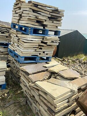 1 Sq Mtr,  Genuine Yorkshire Stone Yorkstone Crazy Paving Collected BD13 5AB • 18£