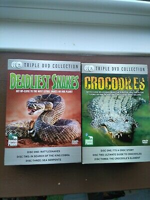 £4 • Buy Animal Planet Triple Dvd Collection X 2, Snakes Crocodiles