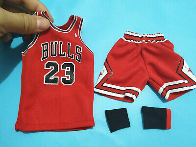 $27.99 • Buy 1/6 Red Chicago Bulls Jersey 23 For 12  Michael Jordan Enterbay Figure Body Toy