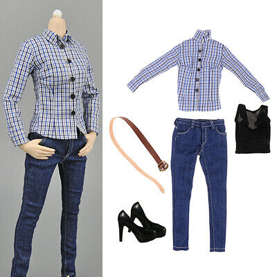 $21.69 • Buy 1:6 Scale Woman High-heeled Shoes Jeans Set For Hot Toys Enterbay Dolls