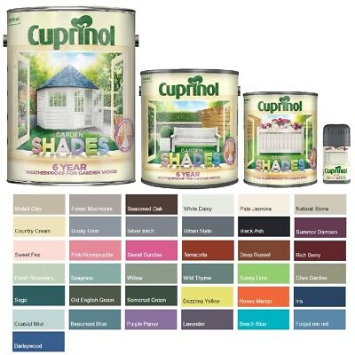 Cuprinol Garden Shades Paint - Furniture Sheds Fences - All Colours And Sizes • 27.39£