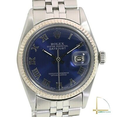 $ CDN5152.47 • Buy Rolex Datejust 36mm Mens 18KW & SS Blue Roman Numeral Fluted Jubilee Watch