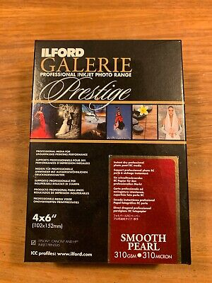 Ilford Galerie Prestige Inkjet Photo Paper Smooth Pearl 4x6  100 Sheets  • 25.85£