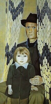 Father & Daughter Lucian Freud Print In 11 X 14 Inch Mount Ready To Frame SUPERB • 19.95£
