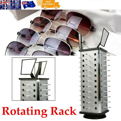 AU61.75 • Buy Metal Rotating Sunglass Display Rack Glasses Stand Holder W/ Mirror For 44 Pairs