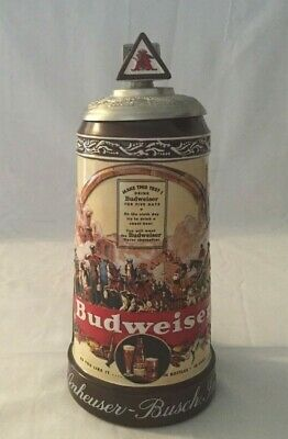 $ CDN66.66 • Buy Budweiser 2003 Historical Advertising 1936 Lidded Stein CB24 With COA No Box
