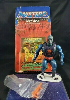 $80 • Buy Masters Of The Universe - Webstor Figure With Package And Comic - Vintage MOTU