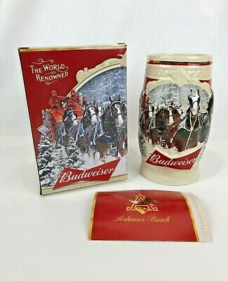 $ CDN32.40 • Buy 2015 Budweiser Holiday Stein First Snow Of The Season 35th Anniversary Edition