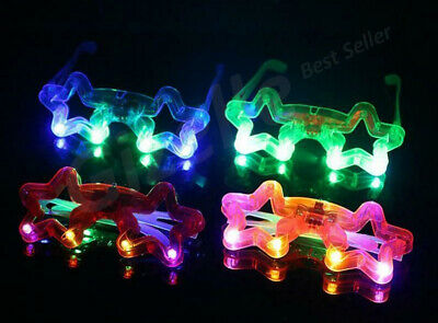 New Led Glasses Star Shape Light Up Glowing Party Club Glasses For Kids Children • 2.49£
