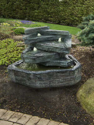 Slate Springs Fountain Inc Lights  Relic Lava Water Feature By Henri Studio • 349£