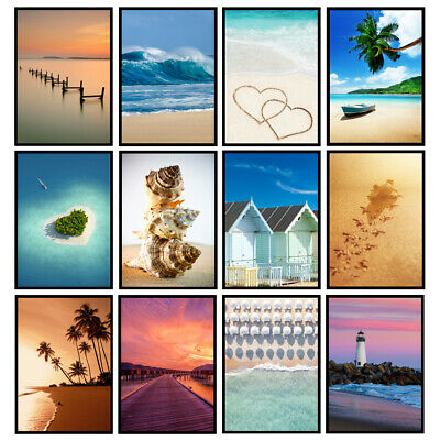 £5.95 • Buy Beach Prints Coastal Art Seaside Prints Bathroom Wall Art - UNFRAMED Posters