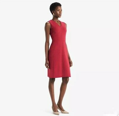 $ CDN174.52 • Buy MM LaFleur Sz 4 Annie 2.0 Dress Crimson Red Stretch Knit Flared A Line V Neck