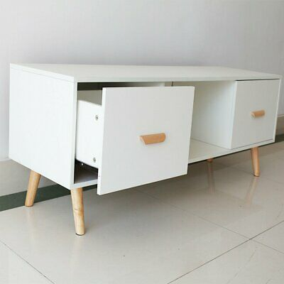 AU117.59 • Buy Entertainment TV Unit Stand Side Table Cabinet 2 Doors  Living Lounge White
