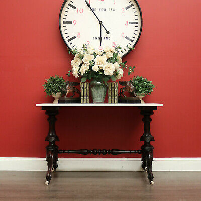 AU975 • Buy Antique English Hall Table Mahogany And Stone Top Entry Foyer Table Side Table