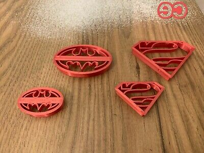 Super Hero Set Of 4 Superman, Batman Fondant, Biscuit, Cookie Cutter • 5.49£