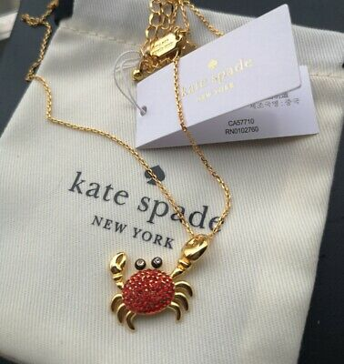 $ CDN33.51 • Buy Kate Spade New York Shore Thing Pave Crab Pendant Necklace