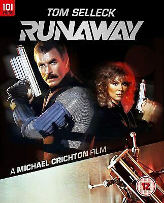 RUNAWAY- Tom Selleck Sci Fi (1984). Region B Blu Ray • 11.90£