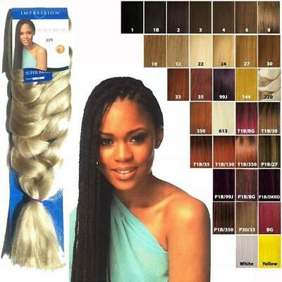 Impression Ultra Braid/Pre Stretch Hair Extentions 86 INCH (XPRESSION COPY) • 5.48£