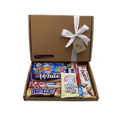 Personalised WHITE Chocolate Sweet Hamper Selection Gift Box Present Christmas • 7.99£