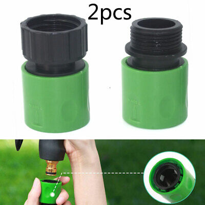 3/4  Female & Male Hose Pipe Tap Fitting Set Garden Watering Connector Adaptor • 5.99£