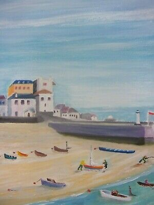 Original Oil Painting `St Ives Harbour. Cornwall. Signed By Artist • 48£