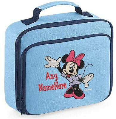 Personalised Embroidered Minnie Mouse Kids Lunch Bag Insulated School Dinner Box • 16.99£