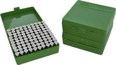 AU21.50 • Buy MTM 100 Round Mechanically Hinged Ammo Box - Pistol/Handgun Calibers P100