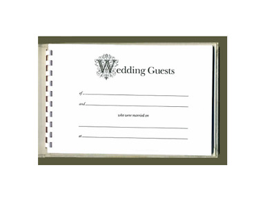 Chantilly Lace Wedding Guest Book IVORY RIBBON • 23.13£