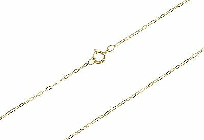 9ct Gold Trace Chain In Sizes 16 ,18 ,20  Free Post--Fast Dispatch- -UK Seller • 18.99£